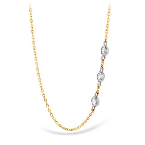 HOF Signature Off-Set Triple Bezel Necklace