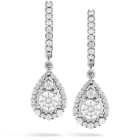 HOF Teardrop Halo Drop Earrings