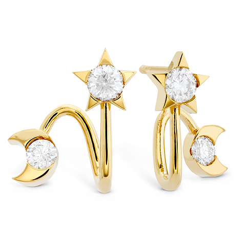 HOF Trend Charmed Star Moon Earring