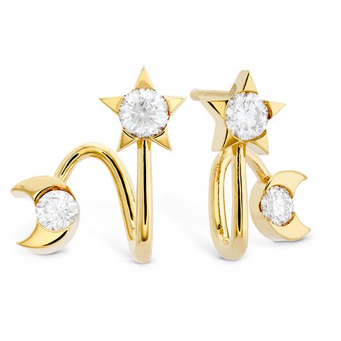 HOF Trend Charmed Star & Moon Earring