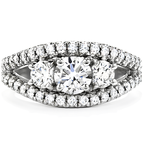 Idealistic Three Stone Engagement Ring