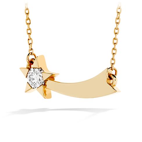 Illa Single Diamond Comet Necklace