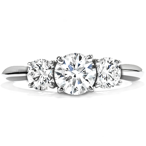 Incroyable Insignia Three Stone Engagement Ring