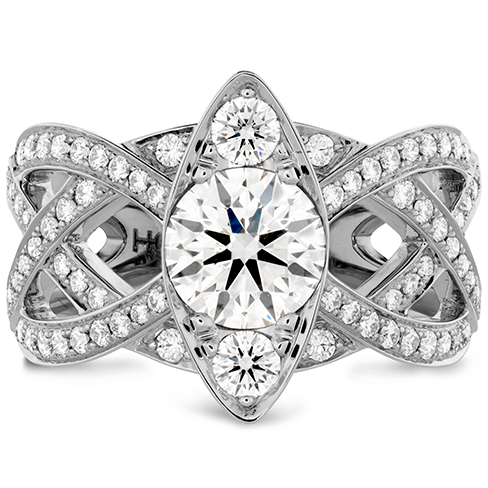 Intertwining Regal Diamond Engagement Ring