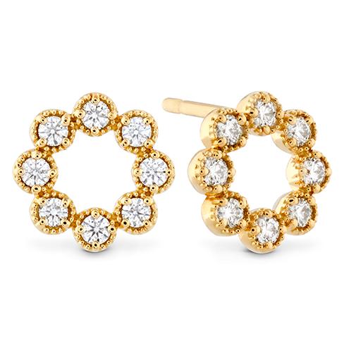Liliana Milgrain Diamond Circle Earrings