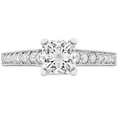 Liliana Milgrain DRM Engagement Ring Dia Band