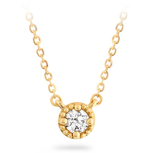 Liliana Milgrain Single Diamond Pendant