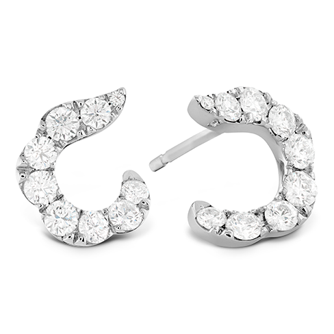 Lorelei Crescent Diamond Earrings