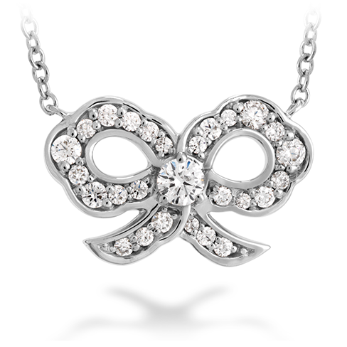 Lorelei Diamond Bow Necklace