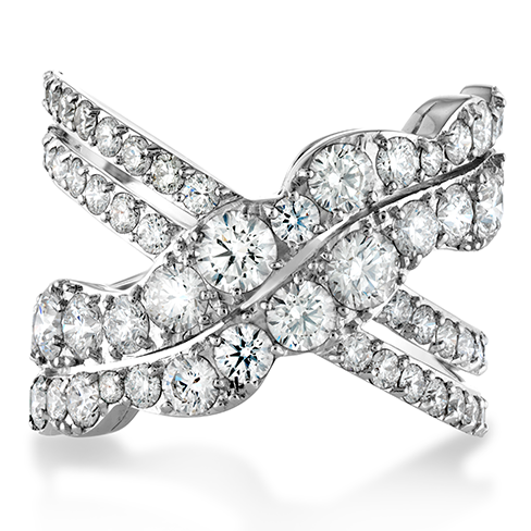 Lorelei Diamond Cross Over Ring