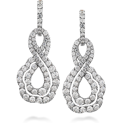 Lorelei Diamond Infinity Earrings