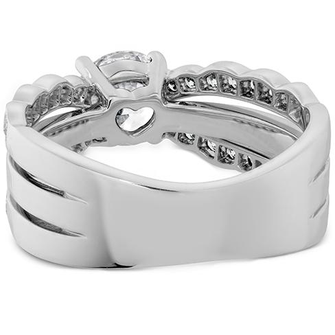Lorelei Double Diamond Row Engagement Ring