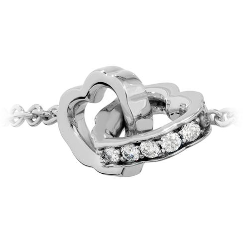 Lorelei Interlocking Diamond Heart Bracelet Photo 2