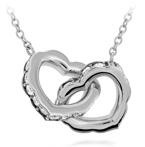 Lorelei Interlocking Double Diamond Heart Necklace