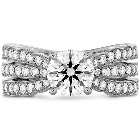 Lorelei Triple Diamond Row Engagement Ring