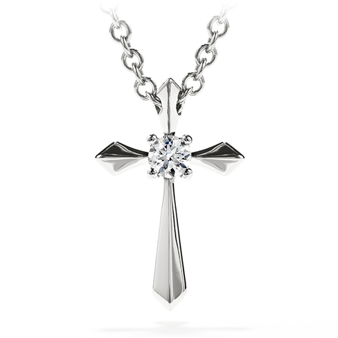 My 1st single diamond cross pendant aloadofball Choice Image