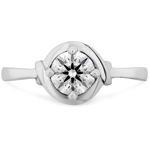 Optima Halo Solitaire Engagement Ring