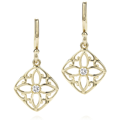 Potpourri Filigree Small Drop Earrings
