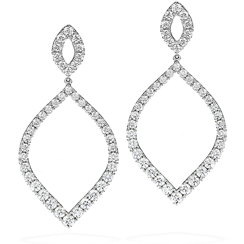Provocative Diamond Drop Earrings