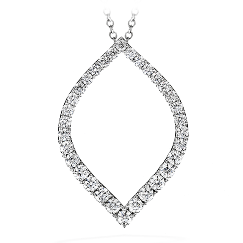 Provocative Diamond Drop Pendant