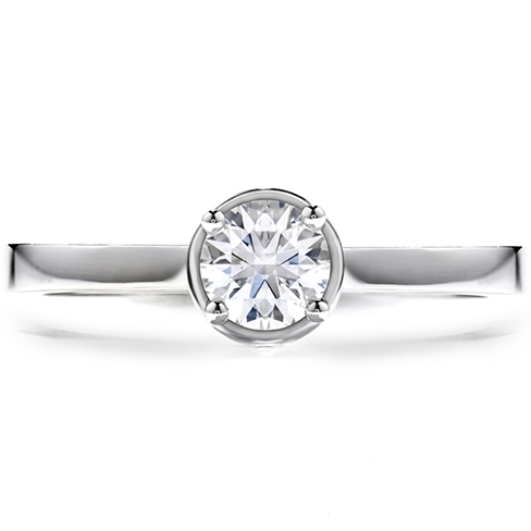Purely Bridal Four Prong Solitaire