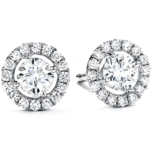in cz earrings stud rhodium dce plated sterling halo and silver earring
