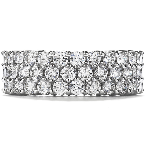 Right Hand Ring TripleRow Eternity Band
