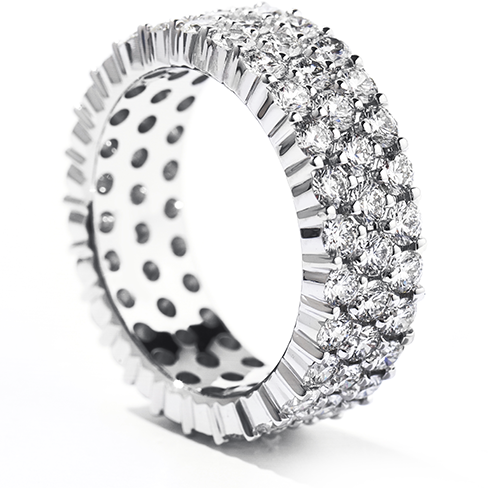 Right Hand Ring, Triple-Row Eternity Band