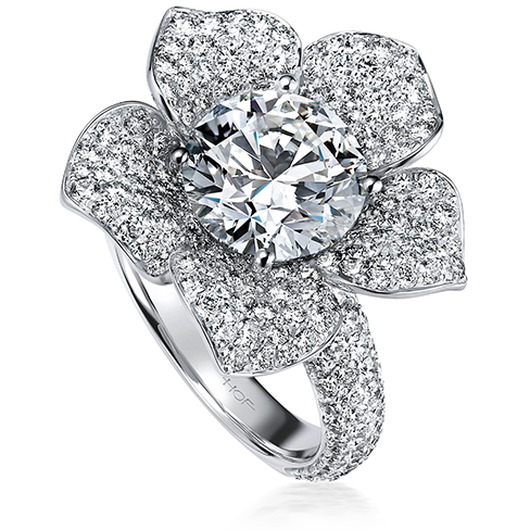 Rosette Right Hand Ring
