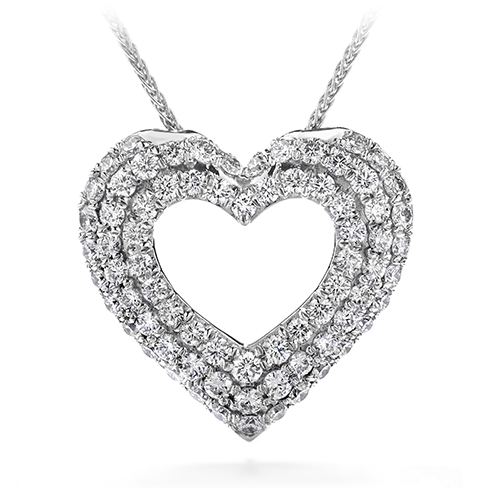 Silk pave heart pendant necklace aloadofball Images