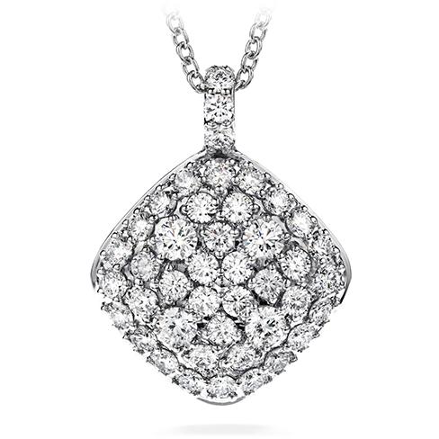 Silk pave large diamond shape pendant necklace aloadofball Images