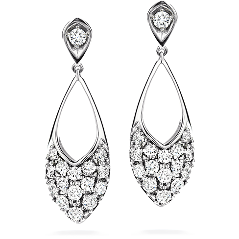 Silk Pave Marquee Drop Earrings