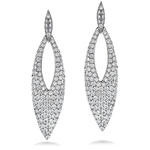 Silk Pave Marquise Earrings