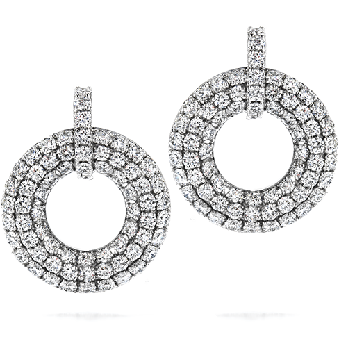 Silk Pave Open Circle Earrings