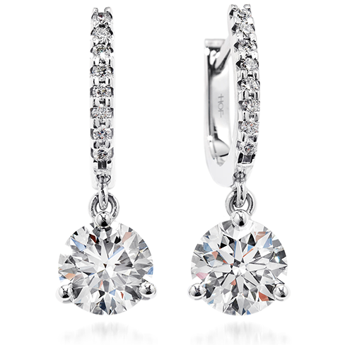 Three Prong Diamond Leverbacks