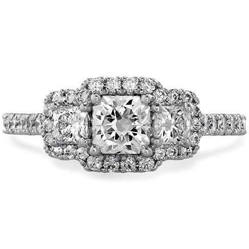 Transcend Three stone Dream Engagement Ring