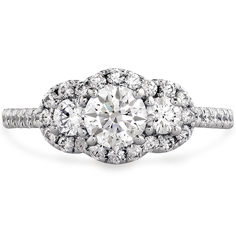 Transcend Three stone Engagement Ring