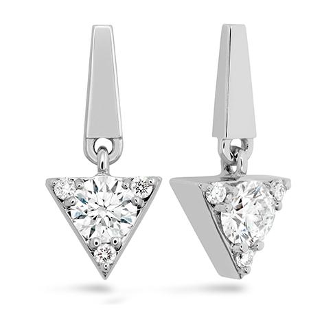 Triplicity Triangle Drop Earrings