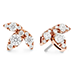 Aerial Triple Diamond Stud Earrings - L view 3