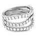 Atlantico Triple Wave Diamond Ring view 3