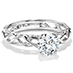 Brocade Solitaire Engagement Ring view 3
