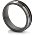 Commanding Black Titanium Dome Bevel Band view 2