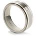 Commanding Grey Titanium Double Inlay Bevel Band view 2