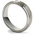 Commanding Grey Titanium Hammered Dome Step Band view 2