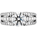 Copley Diamond Triple Row Engagement Ring view 1