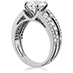 Copley Diamond Triple Row Engagement Ring view 2