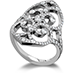 Copley Double Diamond Heart Right Hand Ring view 2