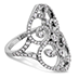 Copley Double Diamond Heart Right Hand Ring view 3