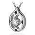 Copley Single Diamond Drop Pendant Necklace view 2