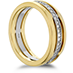 Copley Triple Row Wedding Band view 2